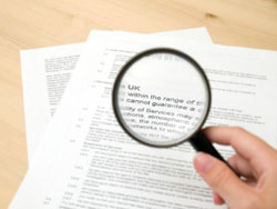 reading the legal  fine print